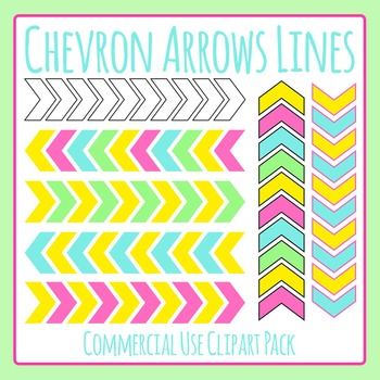 Chevron Arrow Lines Clip Art Set for Commercial Use