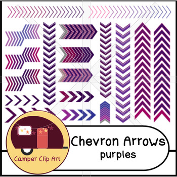 Chevron Arrows, Borders, Purples {CU - Commercial Use ok!}