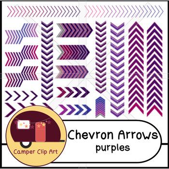 Chevron Arrows, Borders, Purples {CU - Commercial Use ok!}