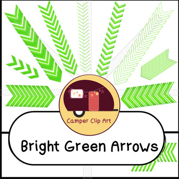 Chevron Arrows, Bright Green {CU - Commercial Use ok!}