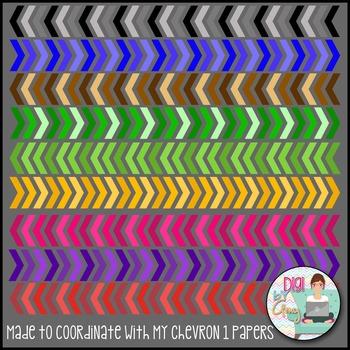 Chevron Arrows Clip Art Monochromatic