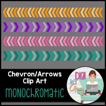 Chevron - Arrows Clip Art - Monochromatic