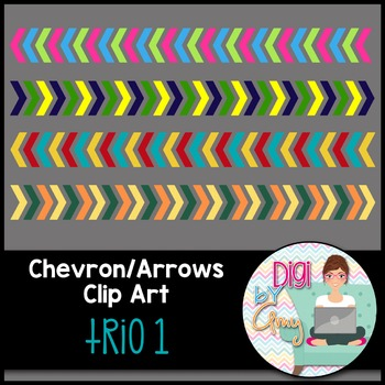 Chevron Arrows Clip Art Trio 1