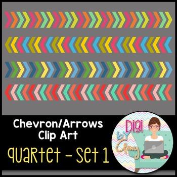 Chevron - Arrows Clip Art - Quartet 1