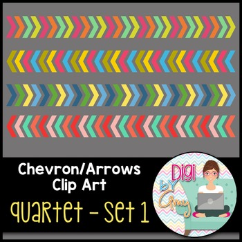 Chevron Arrows Clip Art Quartet 1