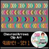 Chevron Arrows Clip Art Quintet 1