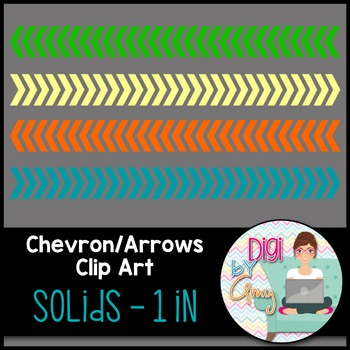 Chevron - Arrows Clip Art - Solids 1 inch