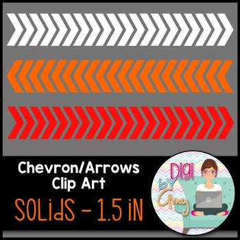 Chevron Arrows Clip Art Solids 1.5 inch