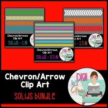 Chevron - Arrows Clip Art - Solids Bundle