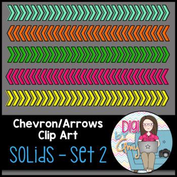 Chevron Arrows Clip Art Solids Set 2