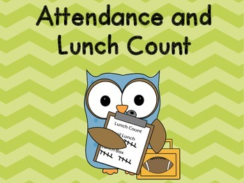 Chevron Attendance and Lunch Count Clip Chart - Green