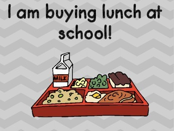 Chevron Attendance and Lunch Count Clip Chart - Orange