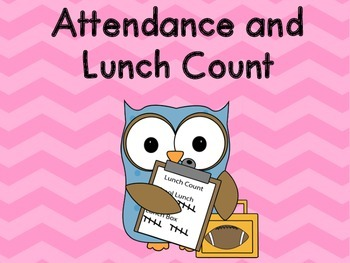 Chevron Attendance and Lunch Count Clip Chart - Pink