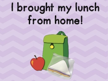 Chevron Attendance and Lunch Count Clip Chart - Purple