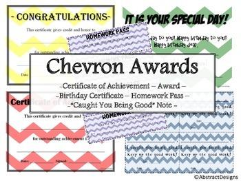 Chevron Awards Set