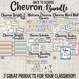 Chevron Back to School Bundle | Welcome Banner | Tags | Word Wall | Posters