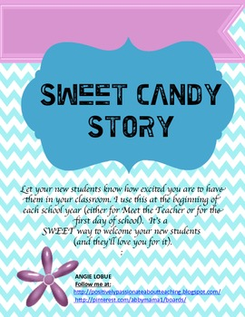 Chevron Back to School - SWEET (CANDY) Welcome to Your Students