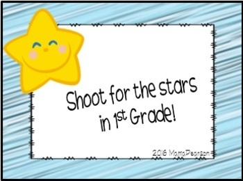 1st Grade Welcome Back to School Notes