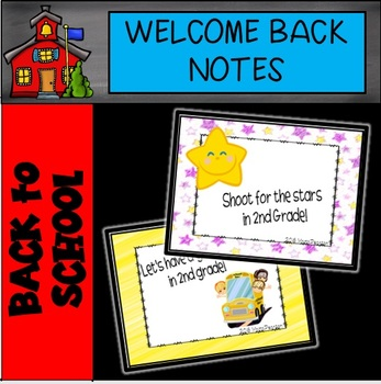 2nd Grade Welcome Back to School Notes