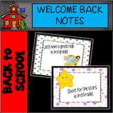 3rd Grade Welcome Back to School Notes