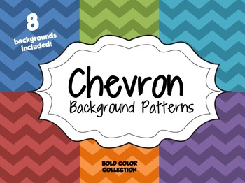 Chevron Background Patterns--Bold Color Collection