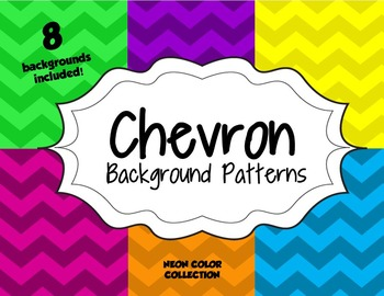 Chevron Background Patterns-- Neon Color Collection