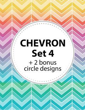 Chevron Background Set 4 + 2 Bonus Circular shapes. 11 color schemes