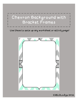 Chevron Background with Bracket Frame
