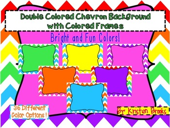 Chevron Background with Colored Frames PACK (personal or commercial)