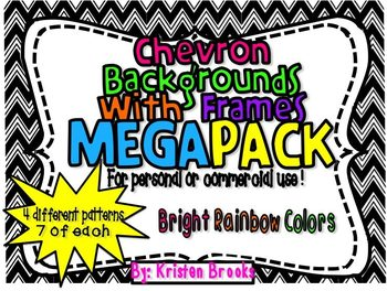Chevron Background with Frames MEGA pack! (personal or com