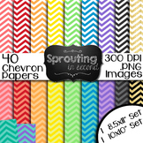 Backgrounds - Chevron {Digital Papers}