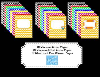 Chevron Backgrounds, Borders, and Name Tags