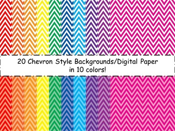 Chevron Backgrounds/Digital Paper