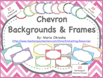 Chevron Backgrounds and Frames