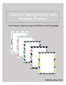 Chevron Backgrounds with Bracket Frames