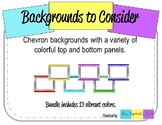 Chevron Backgrounds with Frames-Landscape
