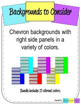 Chevron Backgrounds with Right Side Panel