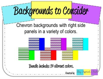 Chevron Backgrounds with Right Side Panel-Landscape