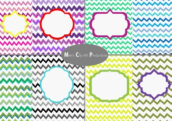 Chevron Backgrounds with badges