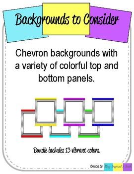 Chevron Backgrounds wtih Frame