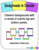 Chevron Backgrounds wtih Frame