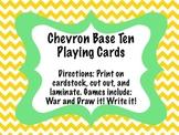 Chevron Base Ten Playing Cards