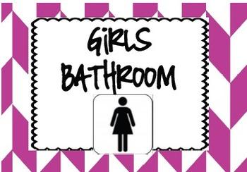Chevron Bathroom Passes