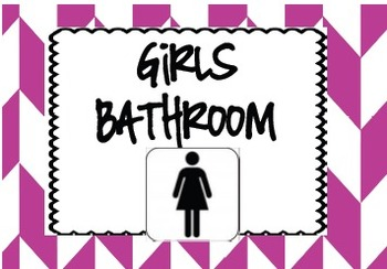 Chevron Bathroom Passes