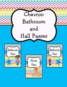 Chevron Bathroom and Hall Passes
