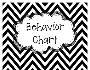 Chevron Behavior Chart - 7 Colors