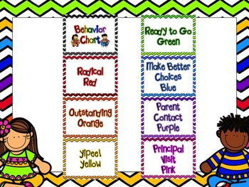 Chevron Behavior Chart & Calendars