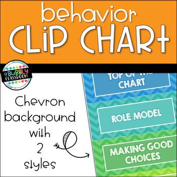 Behavior Clip Chart - Chevron {Editable}