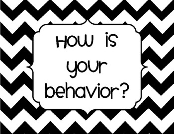 Chevron Behavior Chart for Clothespin Chart System