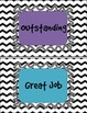 Chevron Classroom and Individual Behavior Clip Charts with Recording Sheets